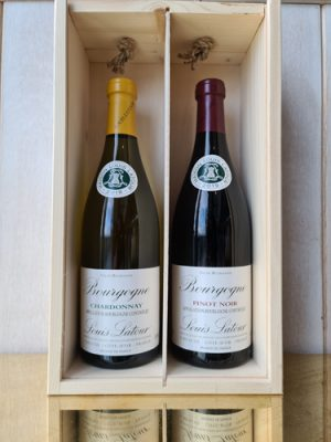 Boxed Gift Set comprised on Bourgogne Louis Latour Pinot Noir and Bourgogne Chardonnay